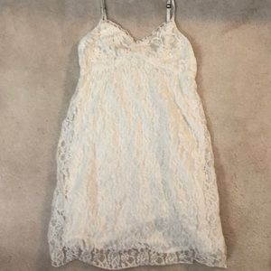 Abercrombie and Fitch XS white Lace dress